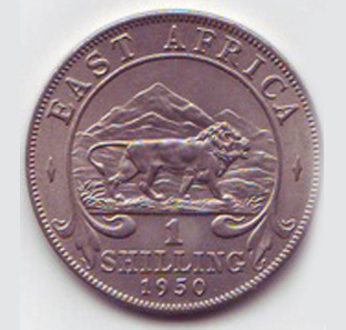 1950 One Shilling Coin Of King George Vi Reverse